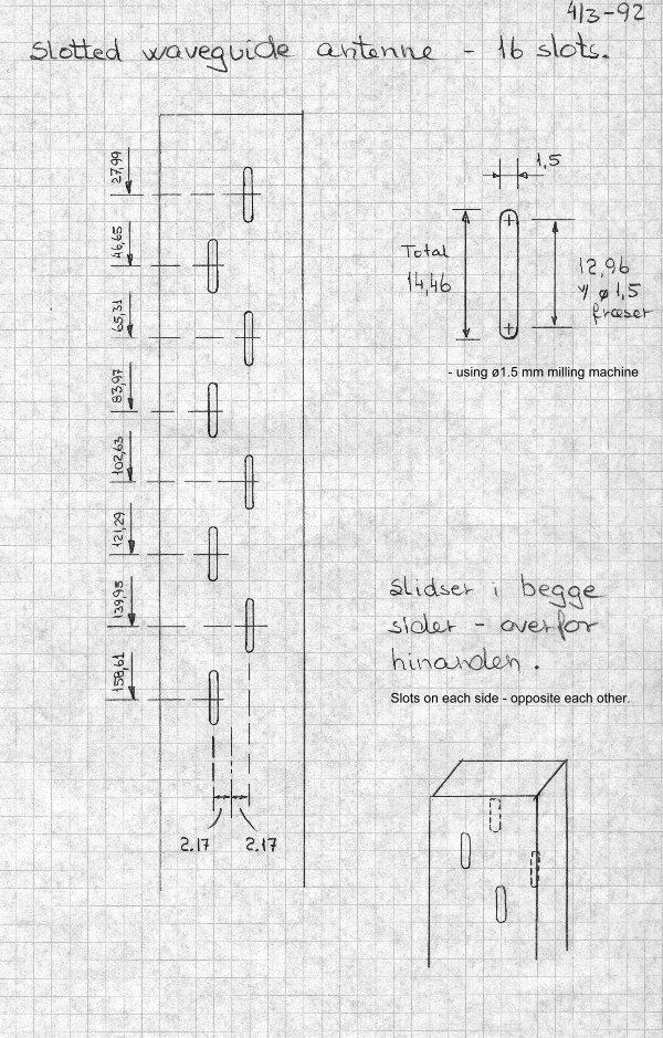 23 cm slot antenna
