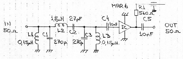 21 - 30 MHz preamplifier for HF